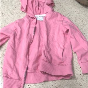 Adorable girls zip up sweatshirt